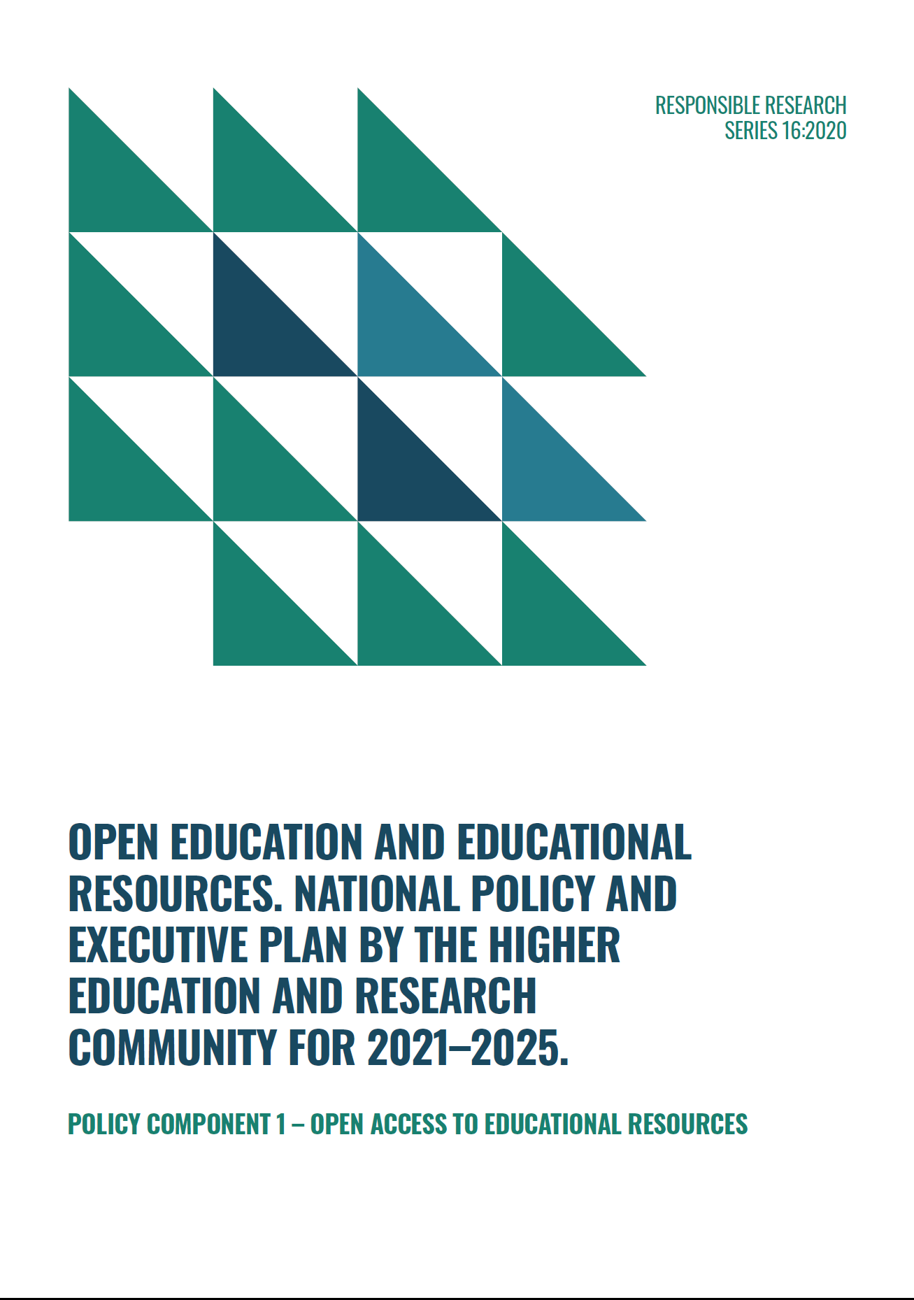 Front page of the policy