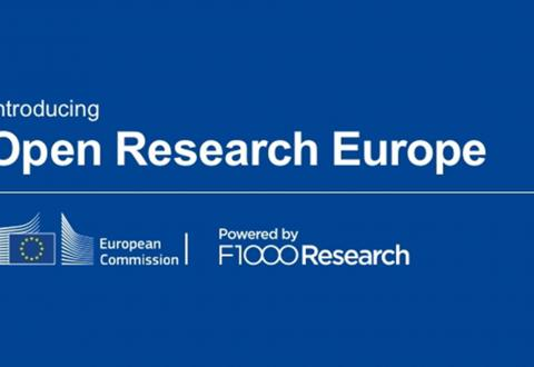 Introducing Open Research Europe, European Commission, Powered by F1000 Research.